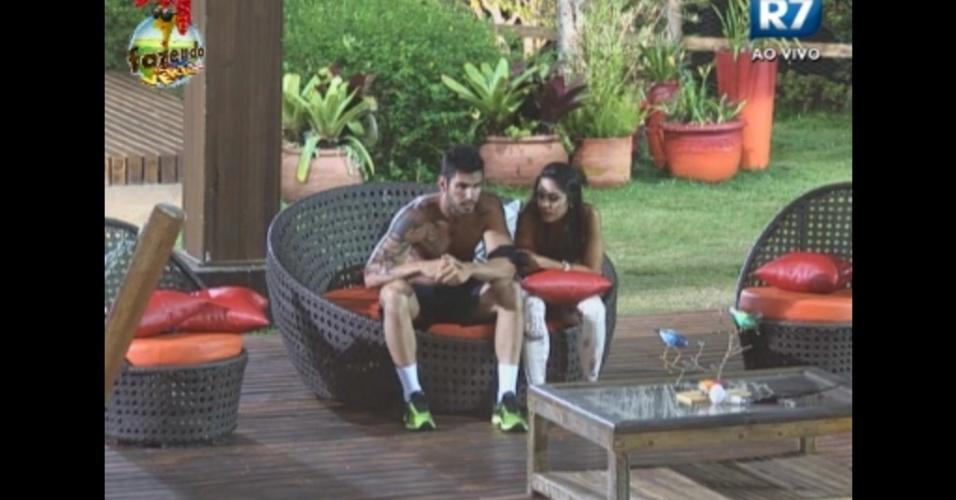 Thyago e Flavia discutem relação na madrugada desta quarta-feira (21)