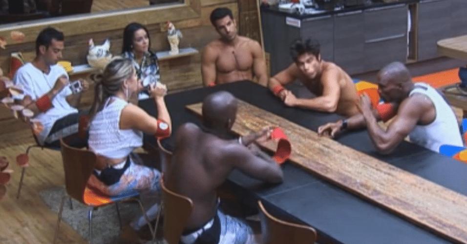 Equipe Formiga se reúne na cozinha