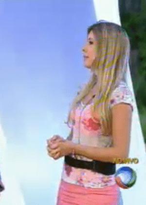 Bianca conversa com Rodrigo Faro, após eliminação