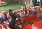 Flávia, Haysam e Natália discutem formação da roça desta noite - Reprodução/Record