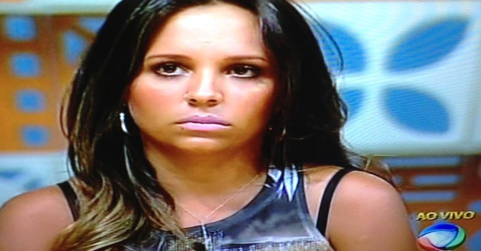 Angelis Borges durante noite de eliminação na