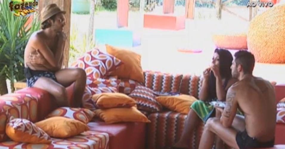 Haysam, Natalia e Thyago conversam sobre vivência em reality shows