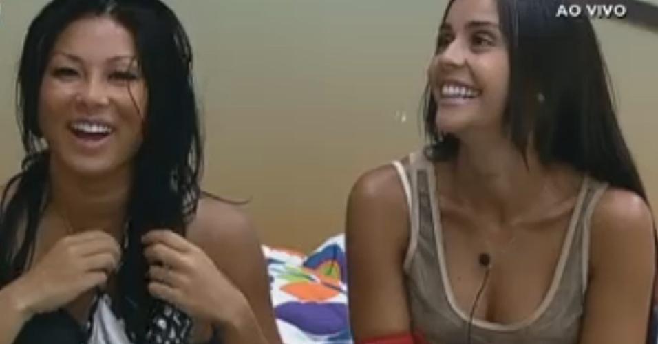 Natália e Flávia lembram bons momentos com Haysam