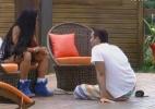 """""""Fica de olho nas suas amizades"""", afirma Natália para Rodrigo Carril - Reprodução/Record"""