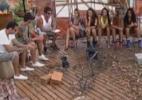 Peões participam de atividade relacionada com o fim do mundo - Reprodução/Record