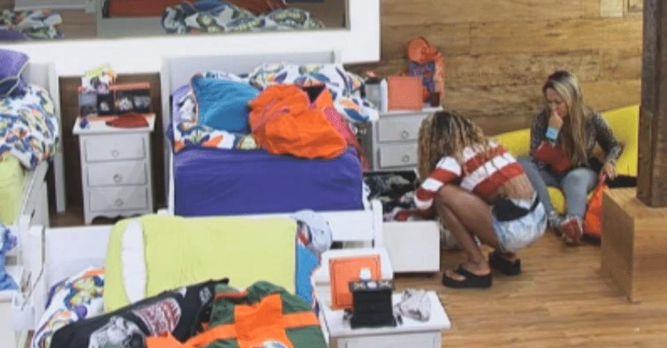 Karine prepara as malas