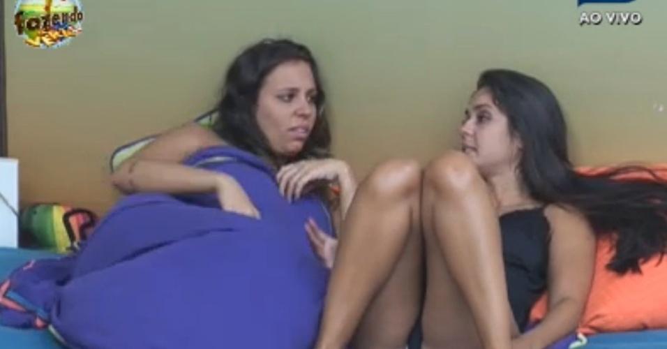 Angelis e Flávia conversam sobre resultado de duelo