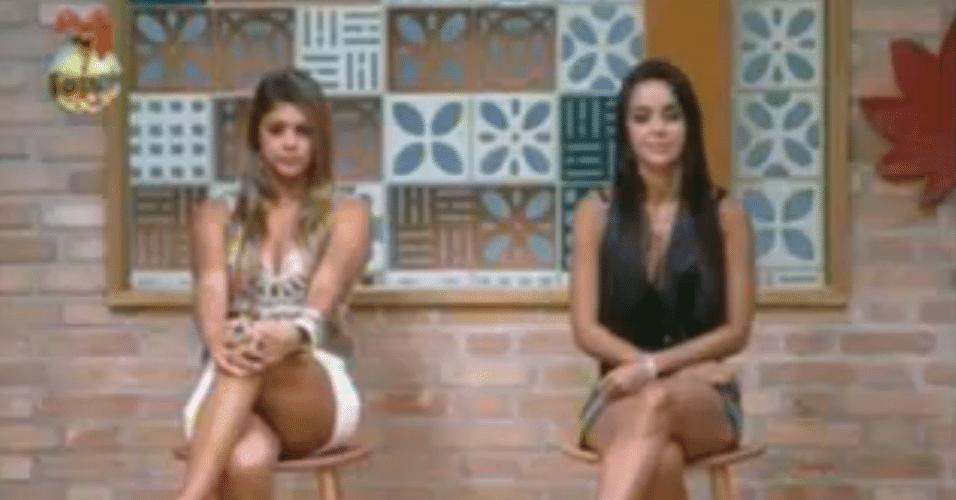 Ansiosas, Flávia e Manoella aguardam o resultado da roça