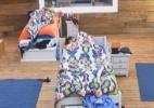 Cansados após festa, peões dormem até tarde - Reprodução/Record