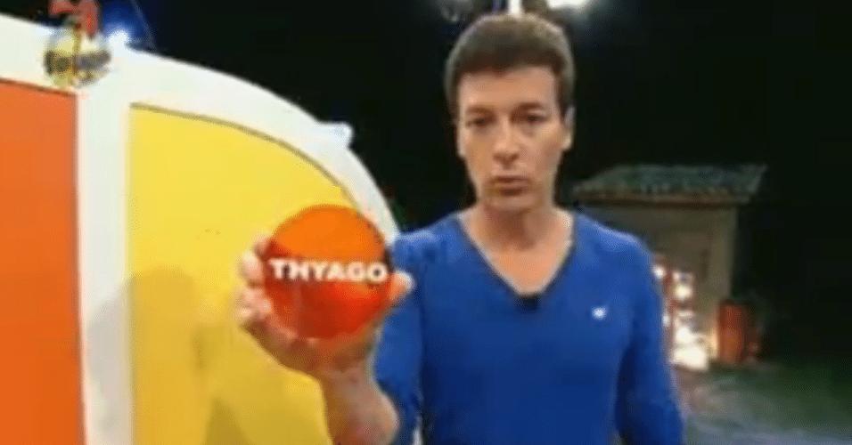 Thyago foi sorteado para desempatar o jogo, se houvesse empate