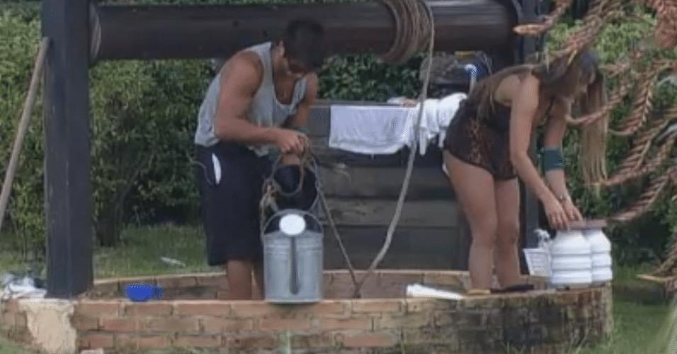 Victor e Manoella cuidam das tarefas da fazenda