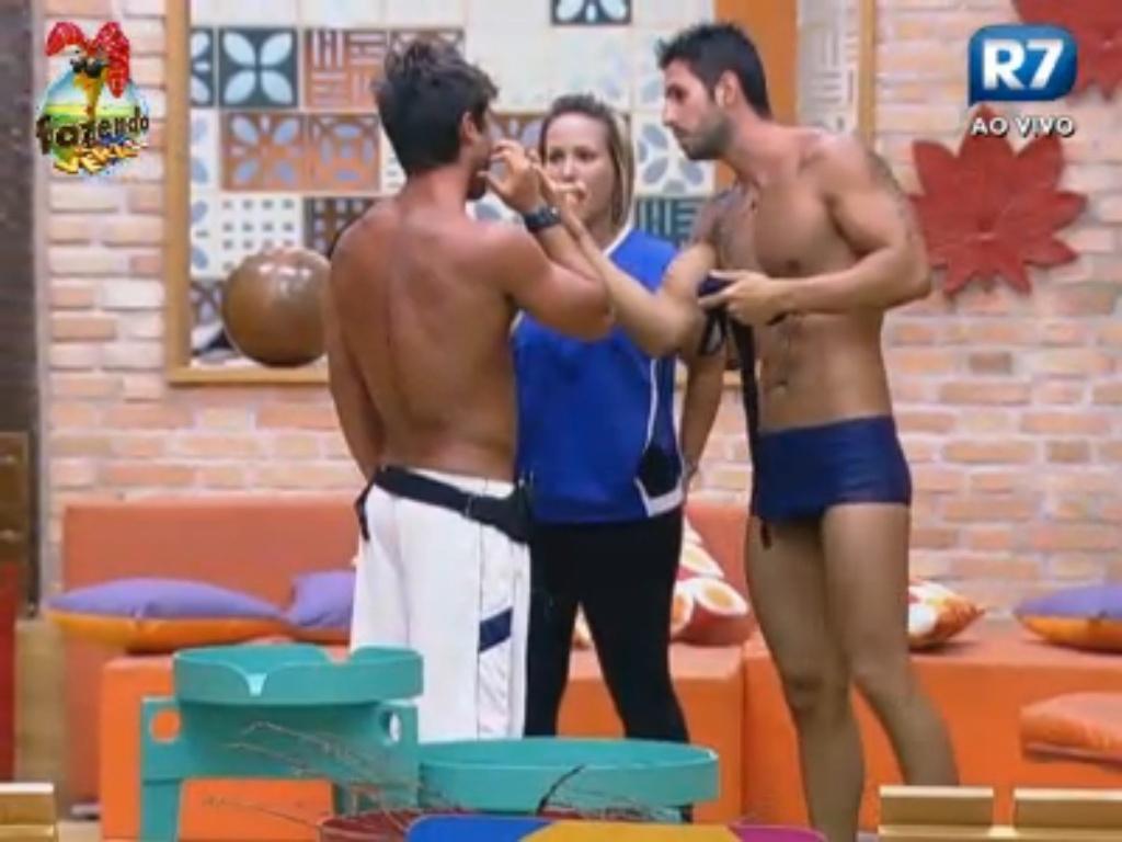 Thyago e Ísis explicam prova para Victor