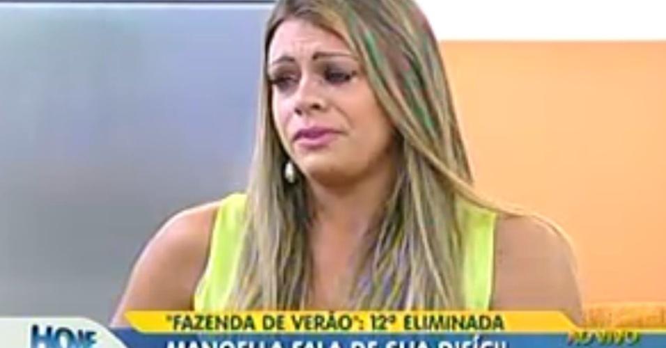 Manoella chora ao falar das brigas com Angelis