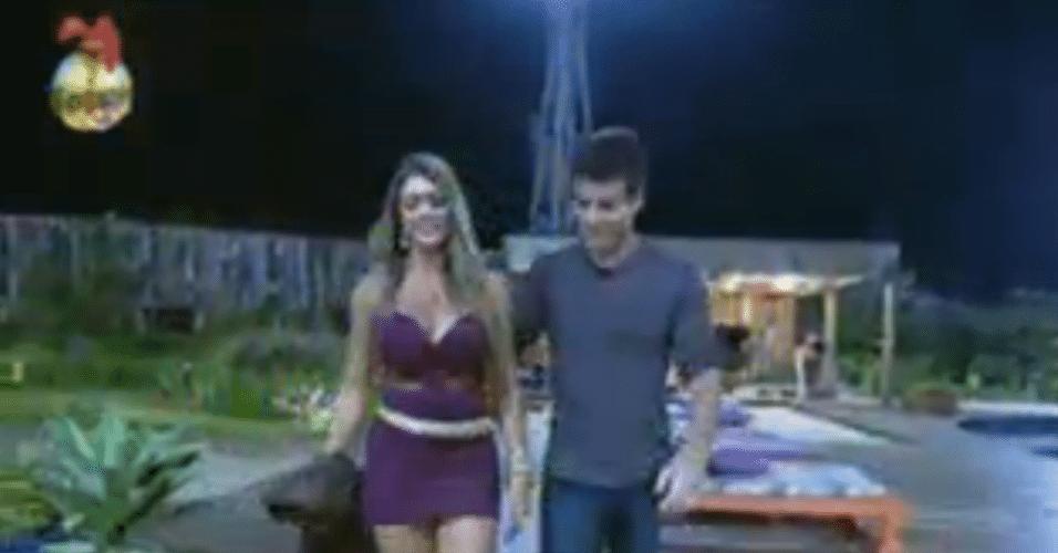 Manoella deixa a sede com Rodrigo Faro