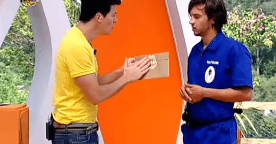 Concentrado, Haysam venceu o duelo e desbancou Raphael. Por consequência, o promoter recebeu um envelope dourado que tinha um poder especial no jogo e que só seria revelado na votação para a roça