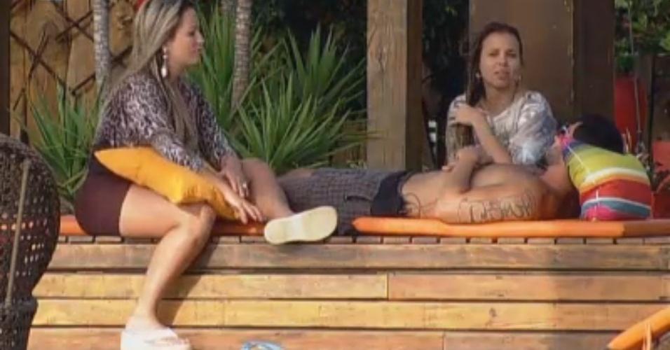 """Os três finalistas aproveitam o final da tarde na """"Fazenda de Verão"""""""