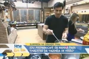 """Edu Guedes prepara café da manhã para finalistas da """"Fazenda de Verão"""""""