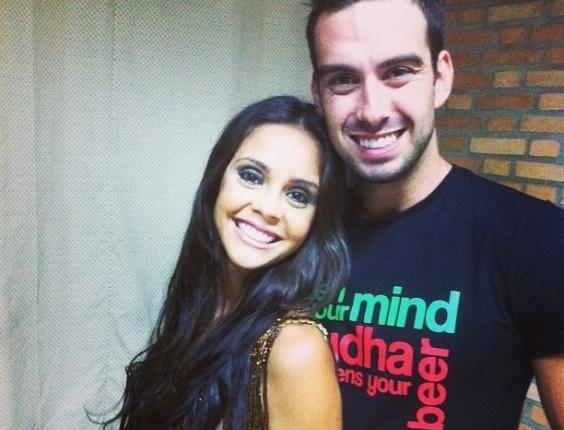Flávia e o amigo Rodrigo Carril