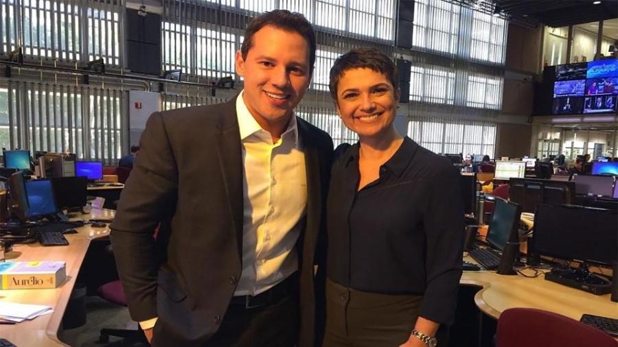 Dony de Nuccio e Sandra Annenberg, como todos jornalistas da Globo, têm direitos e deveres extra profissionais - Reprdução/Instagram