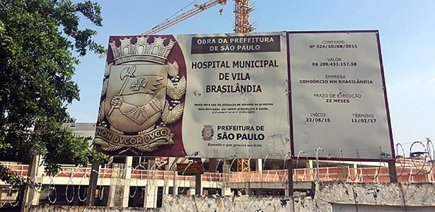 Obra de hospital na Brasilândia, zona norte, é uma das interrompidas