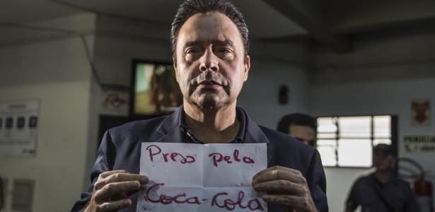Laerte Codonho, dono da Dolly, ao ser preso em 2018 - Danilo Verpa/Folhapress