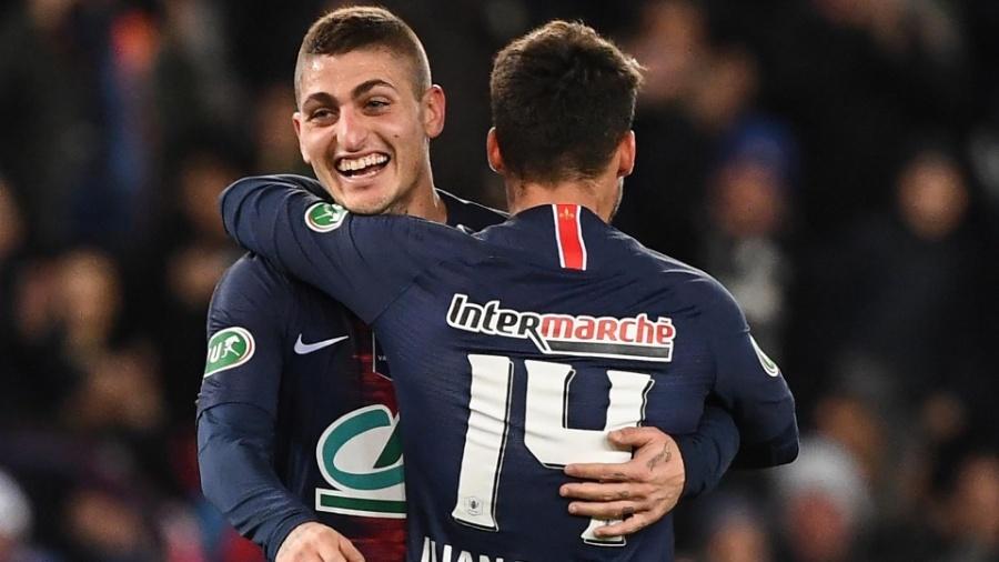 PSG Verratti Bernat Copa da França - Franck Fife/AFP
