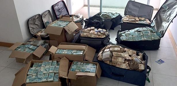 Malas de dinheiro em endereço atribuído a Geddel Vieira Lima em Salvador - Divulgação