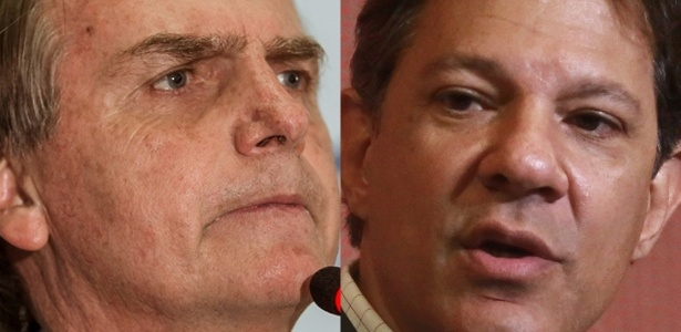 Bolsonaro e Haddad montagem webalert