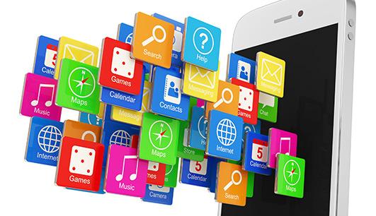 Use aplicativos em smartphones