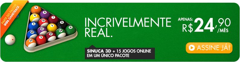 Sinuca 3D + 15 Jogos Online num único pacote