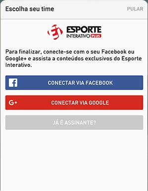 Como acessar EI Plus - Passo 1 - Mobile Android | UOL Esporte Clube