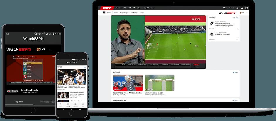 Assista ESPN em qualquer dispositivo | UOL Esporte Clube