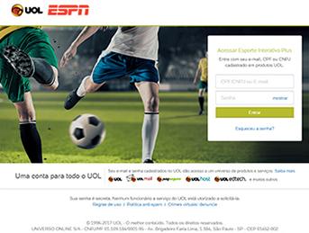 Como acessar ESPN - Passo 3 - Desktop | UOL Esporte Clube
