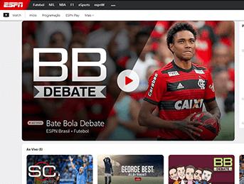 Como acessar ESPN - Passo 1 - Desktop | UOL Esporte Clube