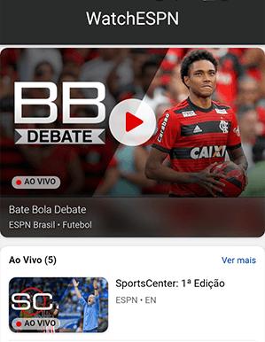 Como acessar ESPN - Passo 1 - Mobile | UOL Esporte Clube