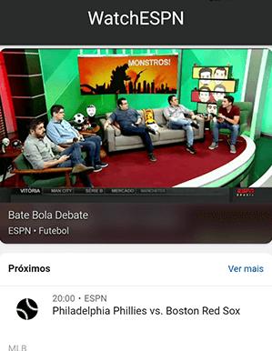 Como acessar ESPN - Passo 4 - Mobile | UOL Esporte Clube