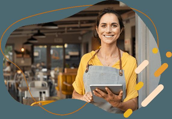 Empreendedora vendendo com a loja virtual