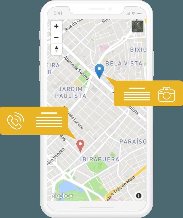 Localização no dispositivo móvel