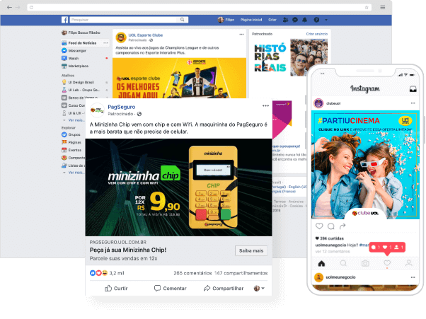 Exemplo de facebook ads