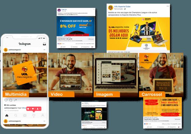 Formatos de anúncios facebook e instagram