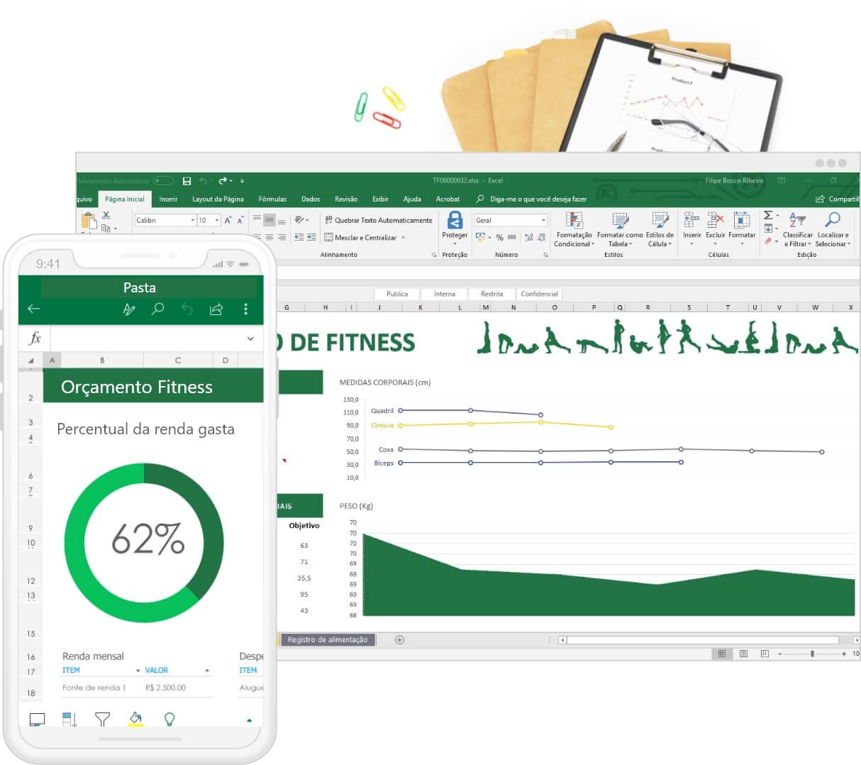 Excel online em diferentes dispositivos
