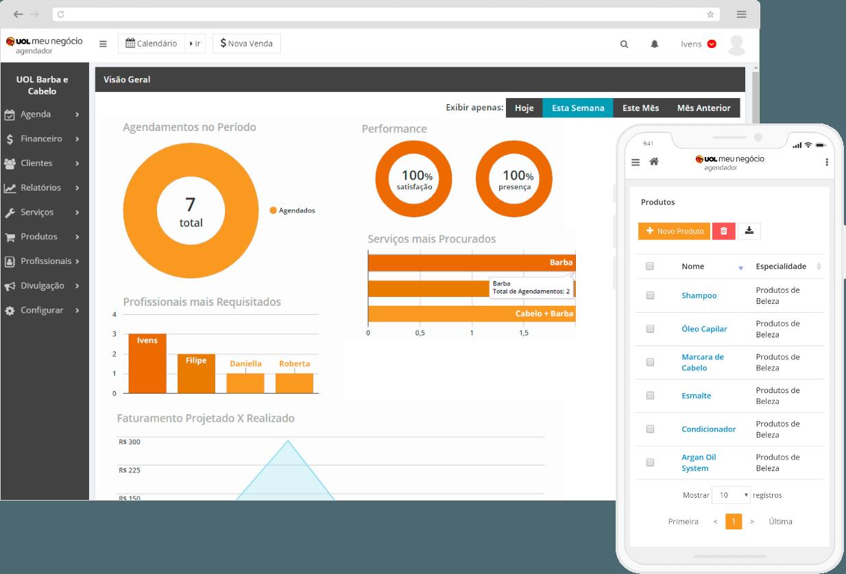 Dashboard para gestão de financeira