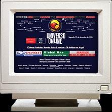 Imagem da primeira homepage