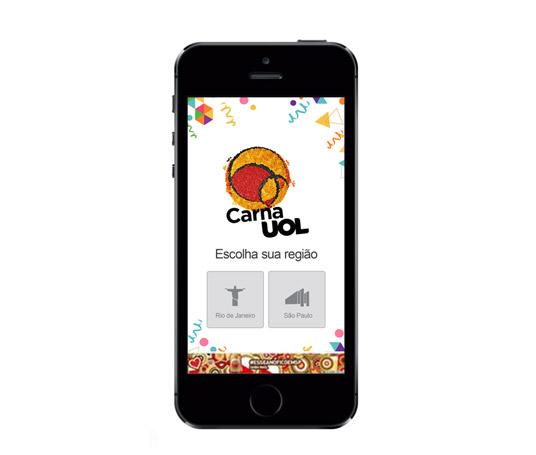 Desenvolvimento de aplicativo CarnaUOL com presença de marcas patrocinadoras