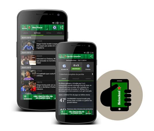Criação de aplicativo exclusivo da marca powered by Placar UOL