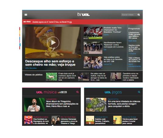 Amplificação da transmissão com vídeos on demand na homepage UOL