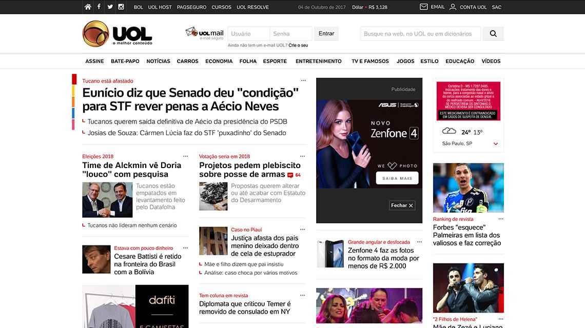 Foto da homepage